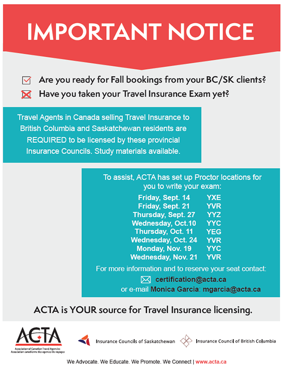 association of canadian travel agencies - bc/sk insurance proctored